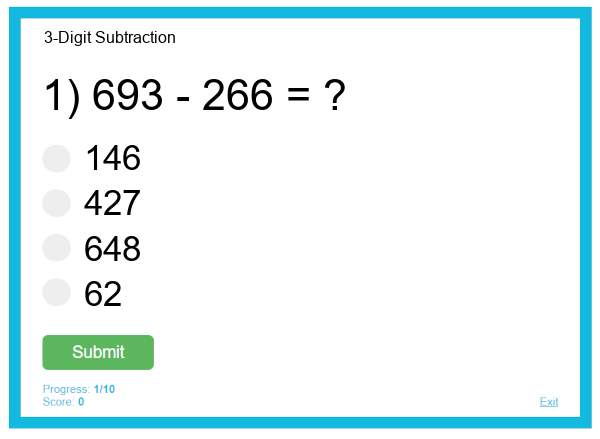 3-Digit Subtraction